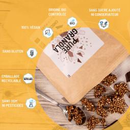 granola chocolat bio sans gluten, vegan sans conservateur sans ogm ni pesticides